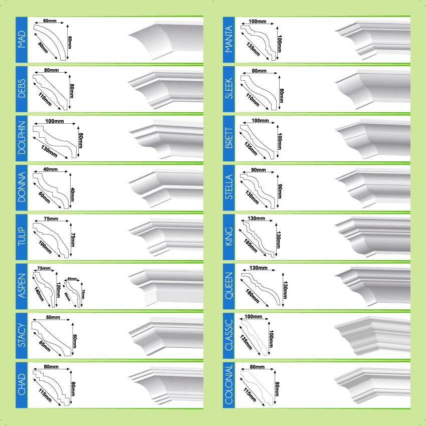 Polystyrene cornice profiles | xtremestyrene co za